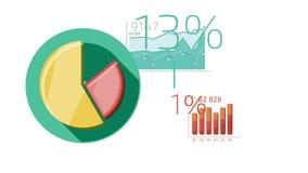 Mieszkanie ikon Animowany biznes Infographics ilustracja wektor