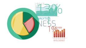 Mieszkanie ikon Animowany biznes Infographics ilustracji