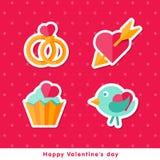 Mieszkanie kantuje szczęśliwy dzień valentine Zdjęcie Stock