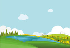 Mieszkanie krajobraz zdjęcie stock