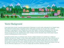Mieszkanie krajobrazowa ilustracja Obrazy Royalty Free