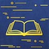 Mieszkanie linii projekta wizerunku graficzny pojęcie otwarta książkowa ikona na bl ilustracja wektor
