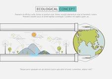 Mieszkanie linii zieleni eco życia konserwacja Obraz Royalty Free
