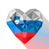 Mieszkanie loga stylowy symbol miłość Slovenia royalty ilustracja