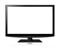 Mieszkanie lub prowadząca realistyczna ilustracja parawanowy tv lcd Fotografia Stock