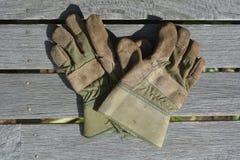 Mieszkanie nieatutowy pracować ogrodowe rękawiczki Obrazy Royalty Free