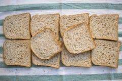 Mieszkanie nieatutowy wholemeal chleb dla kanapek Zdjęcia Royalty Free