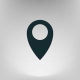 Mieszkanie papieru cięcia stylu ikona mapa pointer Fotografia Stock