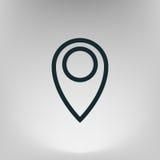 Mieszkanie papieru cięcia stylu ikona mapa pointer Zdjęcia Stock