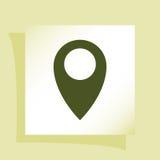 Mieszkanie papieru cięcia stylu ikona mapa pointer Zdjęcie Stock