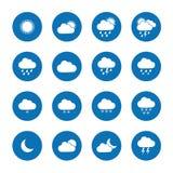 Mieszkanie pogodowe ikony Zdjęcie Royalty Free
