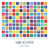 Mieszkanie sieci stylowe ikony Zdjęcie Stock