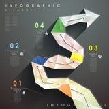 Mieszkanie spływowej mapy stylowy abstrakcjonistyczny infographics royalty ilustracja