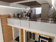 mieszkanie w domu wewnętrznego Fotografia Stock