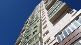 Mieszkanie w wieżowcu domu strzał od dna nakrywać, Rosja zbiory wideo