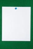 mieszkanie white ogłoszenie papieru Fotografia Stock