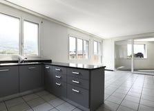 mieszkanie widok kuchenny nowy Obraz Stock