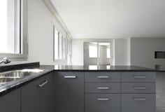 mieszkanie widok kuchenny nowy Zdjęcia Royalty Free