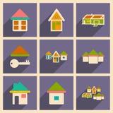 Mieszkanie z cienia pojęciem i wiszącej ozdoby zastosowaniem royalty ilustracja