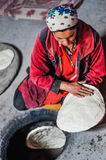 Mieszkanie zasycha od ciasta w Tajikistan Obrazy Stock