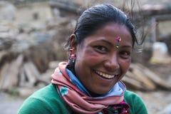 Mieszkaniec wioska Marpha Zdjęcie Royalty Free