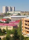Mieszkaniowa ćwiartka w Nizami okręgu Baku zdjęcia royalty free
