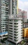 mieszkaniowa domów Singapore ulica Obrazy Royalty Free