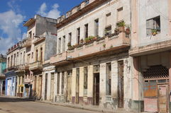 mieszkaniowa Havana ulica Zdjęcia Stock