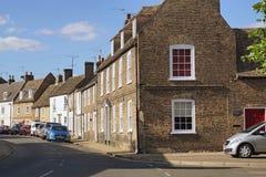 Mieszkaniowa ulica w Ely, Cambridgeshire, Anglia Zdjęcia Stock