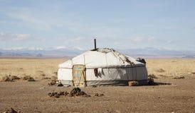 mieszkaniowego mongolian koczowniczy tradycyjny Zdjęcia Royalty Free