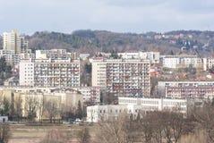 Mieszkaniowego okręgu składać się z wielcy bloki mieszkalni Obrazy Royalty Free