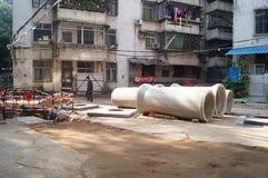 Mieszkaniowego okręgu wody rurociąg budowa Fotografia Royalty Free