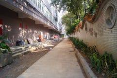 Mieszkaniowego okręgu wody rurociąg budowa Zdjęcia Stock