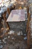 Mieszkaniowego okręgu wody rurociąg budowa Zdjęcia Royalty Free