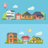 Mieszkaniowi domy Obraz Royalty Free