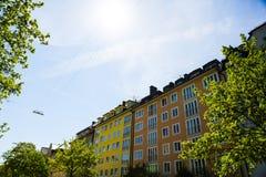 Mieszkaniowi domy, rząd domy w Monachium, piękny residenti Obraz Royalty Free