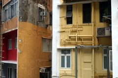 Mieszkaniowi domy w Hong Kong Obraz Royalty Free