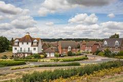 Mieszkaniowi domy w Kent obrazy royalty free