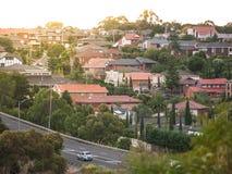 Mieszkaniowi domy w Melbourne ` s przedmieściu Moonee dolina, VIC Australia Obrazy Stock