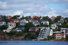 mieszkaniowi domy w Stockholm Sweden Zdjęcie Stock
