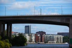 Mieszkaniowi domy w Sztokholm Zdjęcia Royalty Free