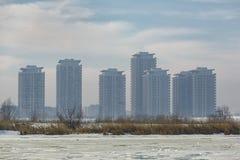 Mieszkaniowi wieżowowie fotografia stock