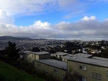 Mieszkaniowi wzgórza San Fransisco Kalifornia Obrazy Royalty Free