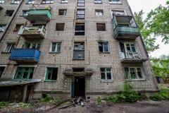 Mieszkaniowy budynek mieszkaniowy po ogienia Zdjęcie Royalty Free