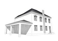 Mieszkaniowy dom 3D Obraz Stock