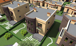 Mieszkaniowy dom 3D Fotografia Stock