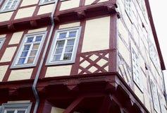 Mieszkaniowy dom robić w niemiec stylu w starym miasteczku Quedlinburg, Niemcy Zdjęcia Stock