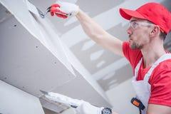 Mieszkaniowy Drywall łatanie obrazy stock