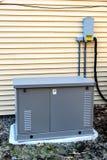 Mieszkaniowy generator fotografia stock