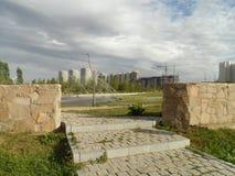 Mieszkaniowy okręg w nowym mieście Obraz Stock